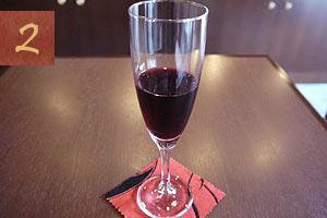 夕食時グラスワイン1杯サービス